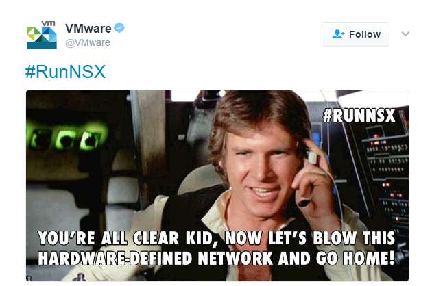 NSX marketing tweet